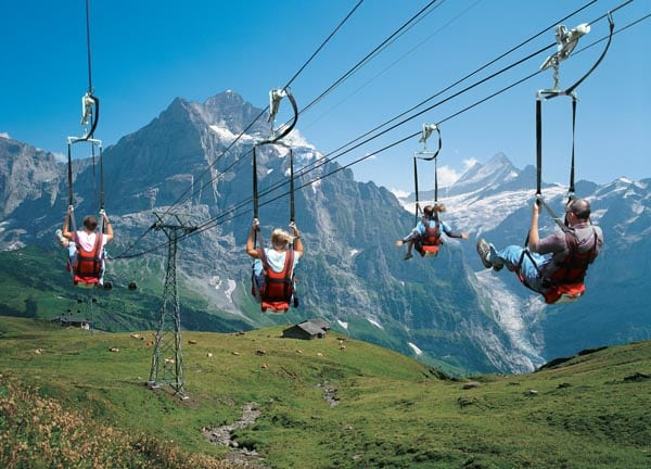 Zipline at Jungfraujoch - Top of Europe