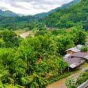 Mountain top view from Ibulao, Ibulao Bed & Breakfast Restaurant in Kiangan, in the Philippine province of Banaue.