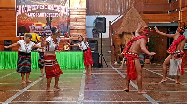 Ifugao dancers at a cultural performance at the Banaue Hotel and Youth Hostel in Ifugao, Philippines.