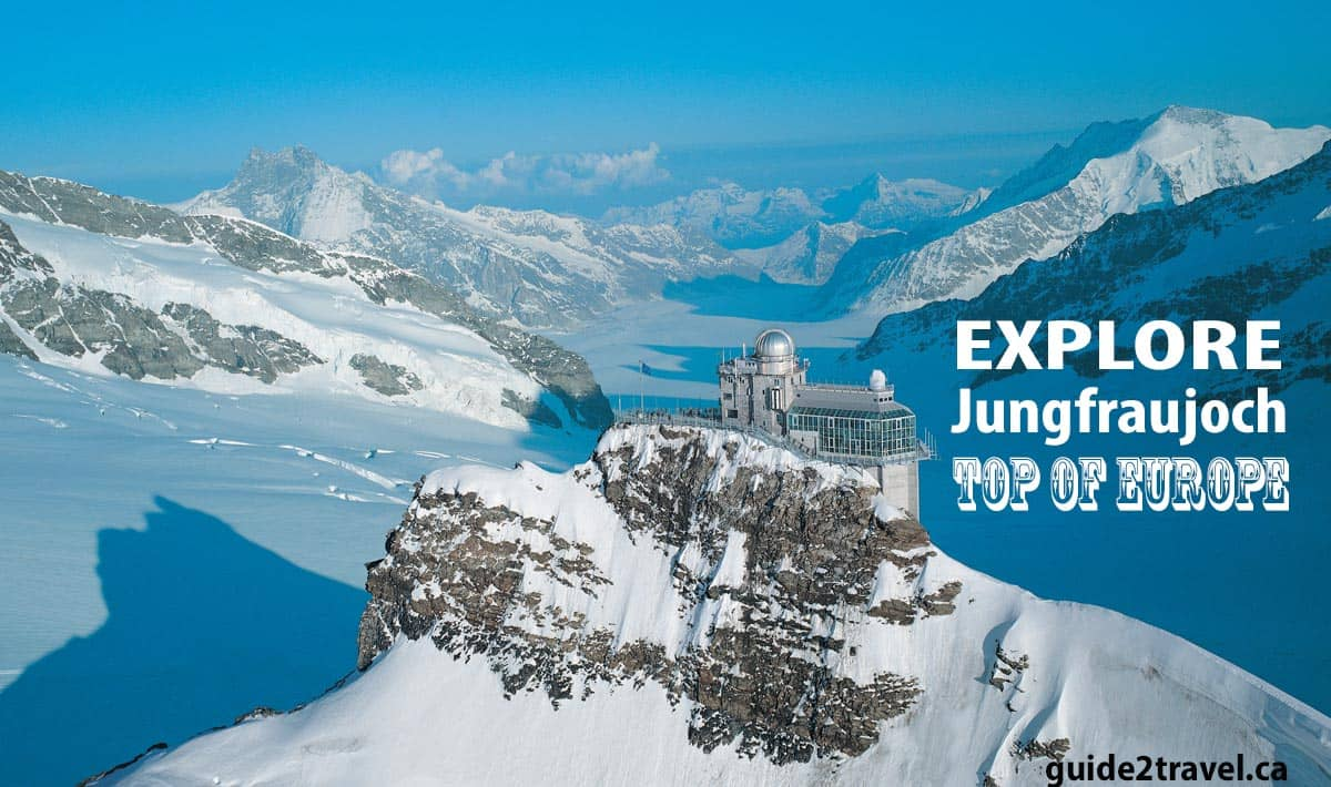 Explore the glacier, snowfun, and ice palace at the Top of Europe - Jungfraujoch.