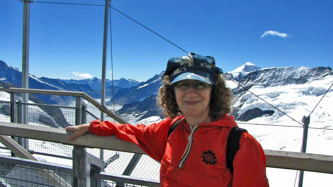 Linda Aksomitis at the Top of Europe - Jungfrau.