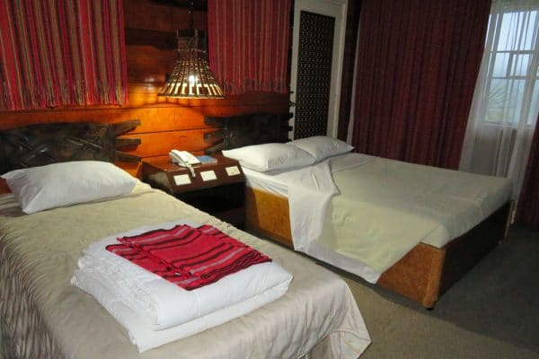 Room at the Banaue Hotel and Youth Hostel in Ifugao, Philippines.