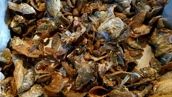 Daing or salted, dried fish -- part of a breakfast buffet at Banaue Hotel and Youth Hostel in Ifugao, Philippines.