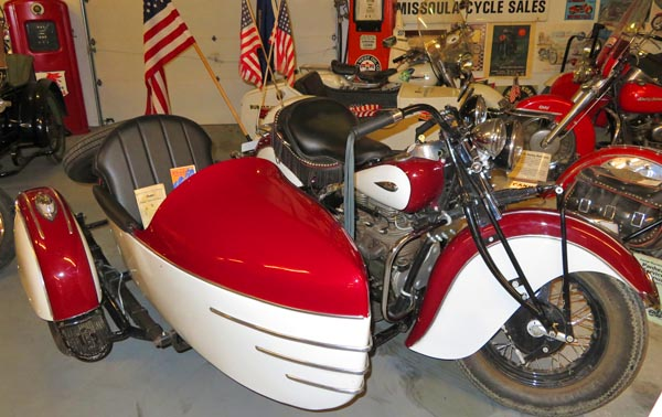 Miracle of America  motorcycle and sidecar.