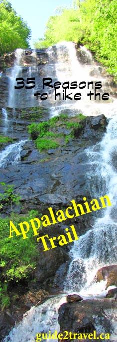 Appalachian Trail start at Amicalola Falls in Georgia.