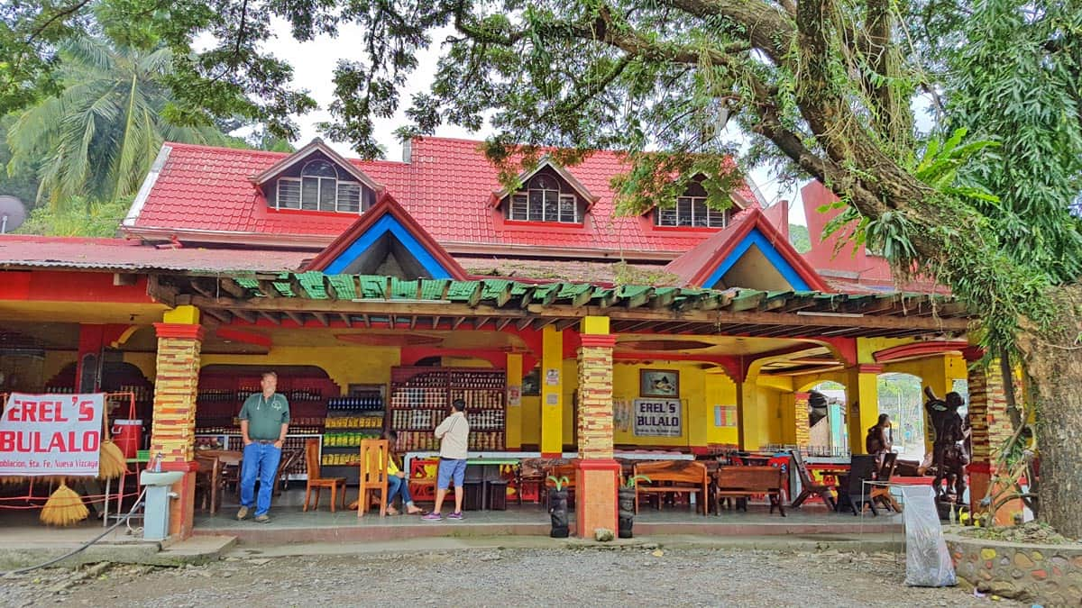 Restaurant in a larger town in the Philippines.