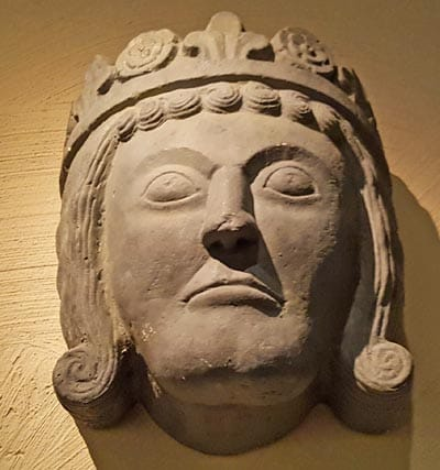 Carving of a face in Medieval Museum in Stockholm.