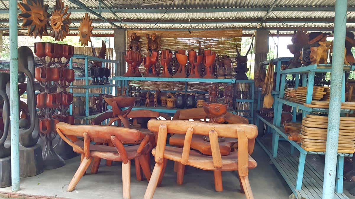 Wood carvings for sale.