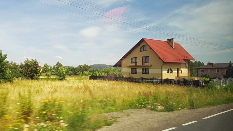 Rural Poland between Krakow and Warsaw.