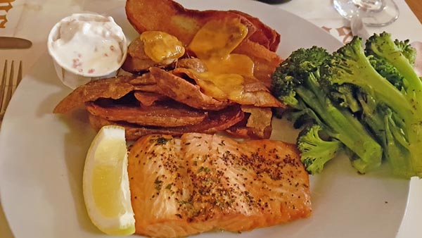 Steelhead trout served at Hopkins Dining Parlour in Moose Jaw.