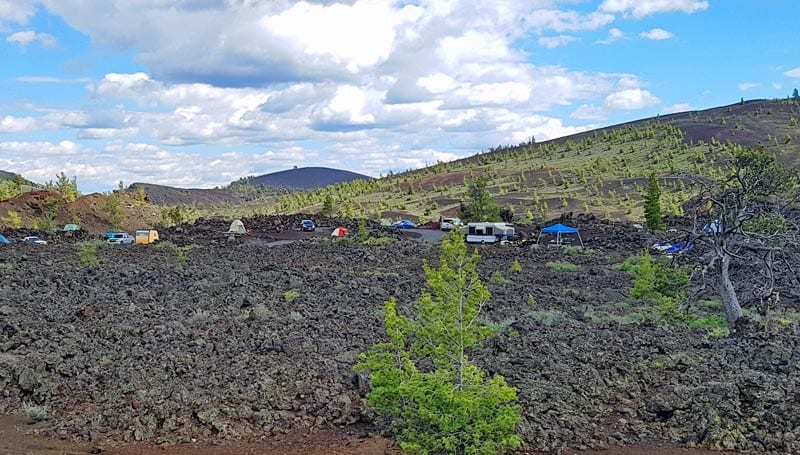 Campground at Craters of the Moon