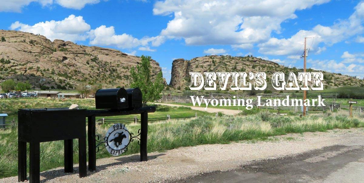 Devil's Gate landmark in Wyoming.