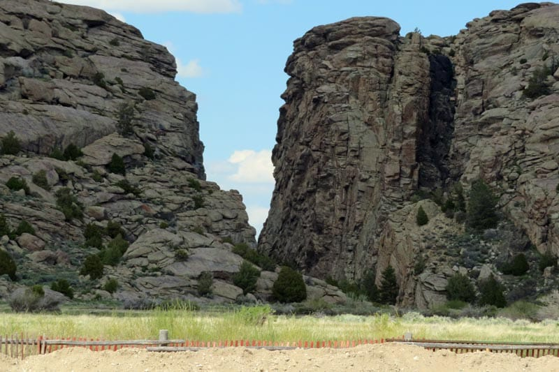 Devil's Gate in Wyoming.