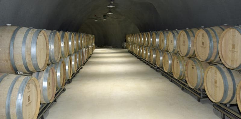 Wine barrels at Halter Ranch in Paso Robles, California.