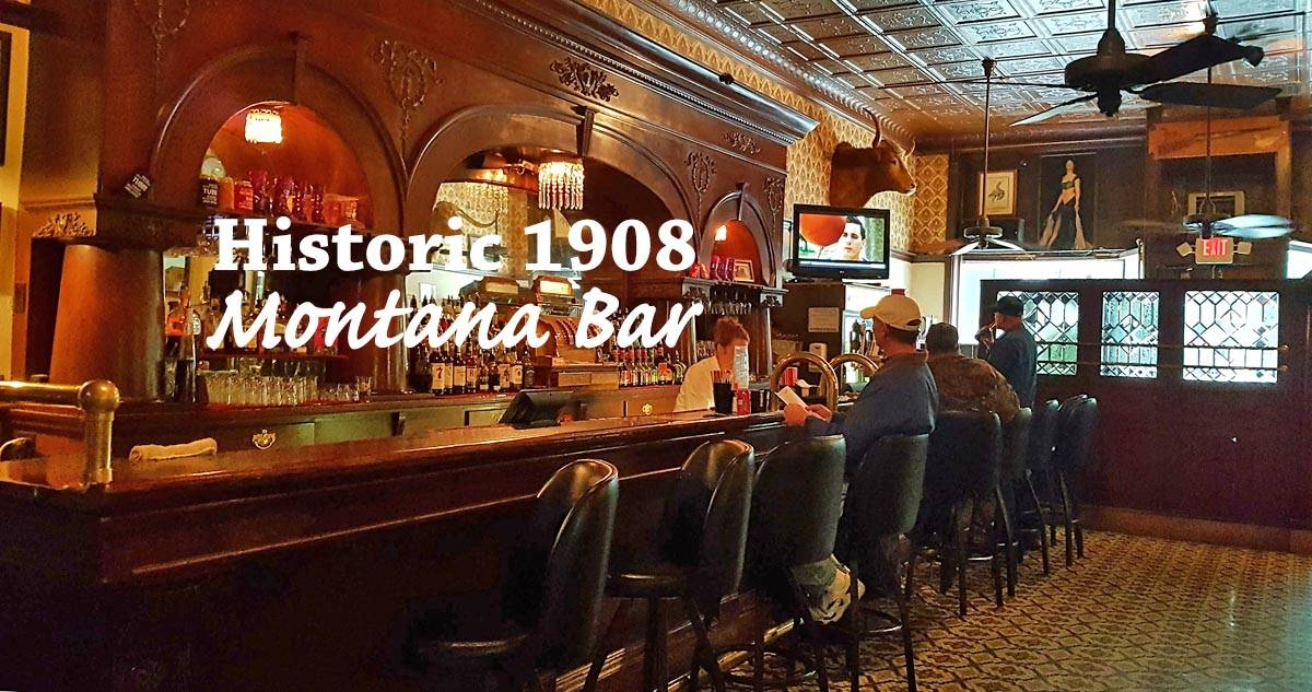 Historic Montana Bar in Miles City, Montana.