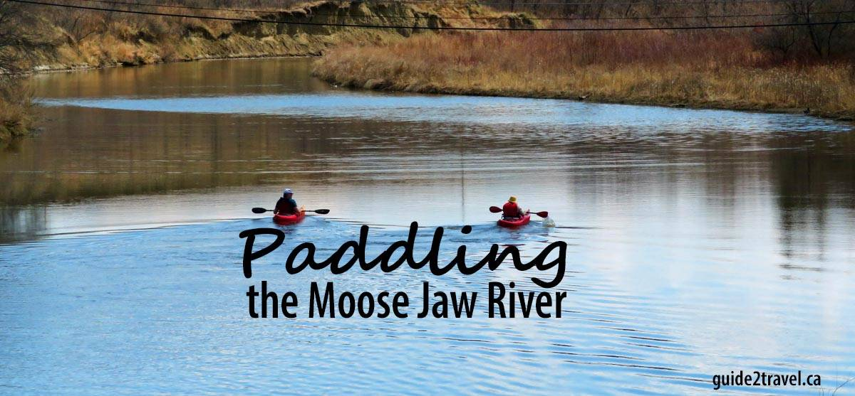 Paddling the Moose Jaw River in Saskatchewan.