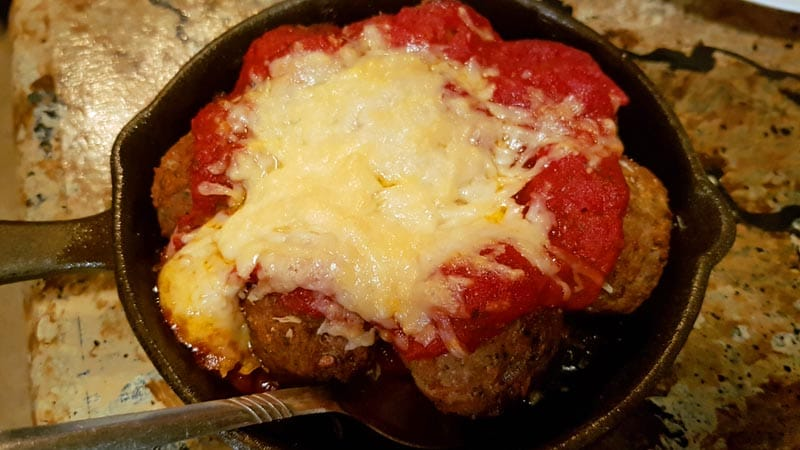 Meatball Skillet at The Tangled Tumbleweed in Scottsbluff, Nebraska.