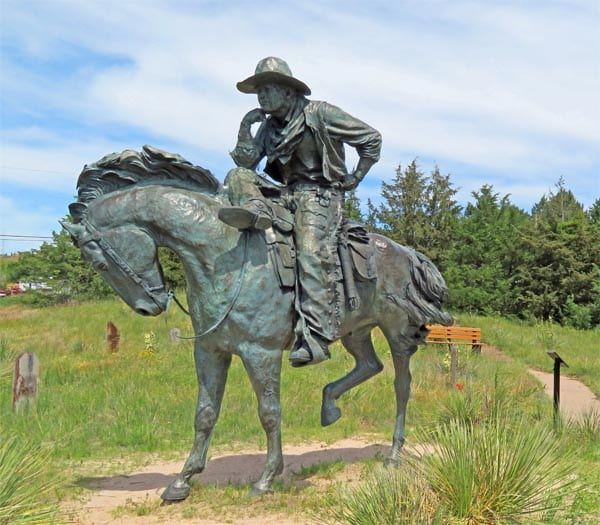 Trail Boss Statue in Boot Hill