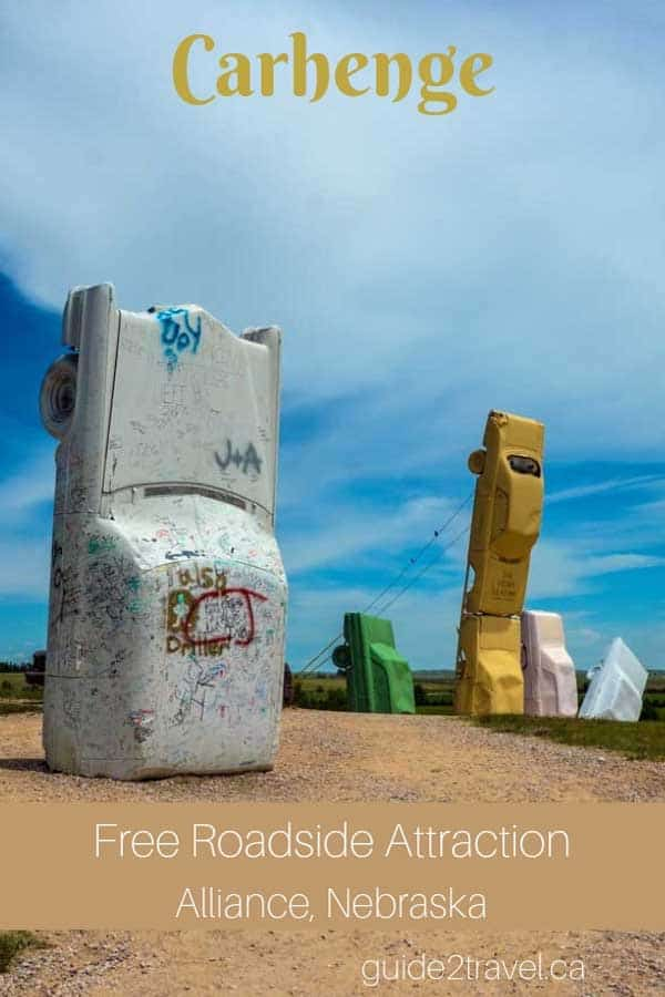 Visit Carhenge free roadside attraction in Alliance, Nebraska.