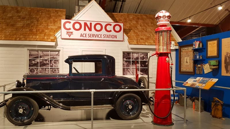 Legacy of the Plains Museum Conoco service station.