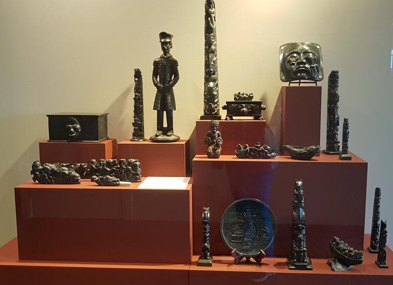 Argillite art of the Haida people.