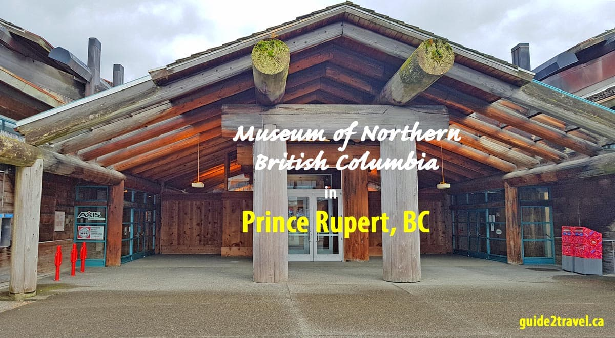 Longhouse building of the Museum of Northern British Columbia in Prince Rupert, BC.