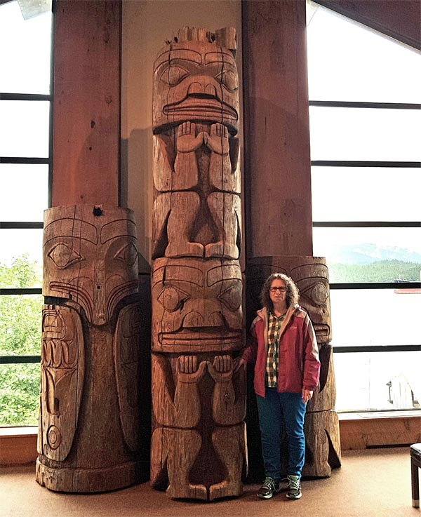 Totem poles in the Museum of Northern British Columbia.
