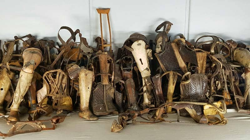 Possessions of the Jewish prisoners sent to Auschwitz.