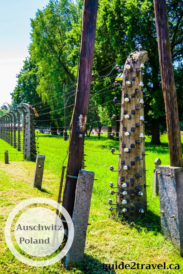 Electric fence at Auschwitz Concentration Camp in Poland.