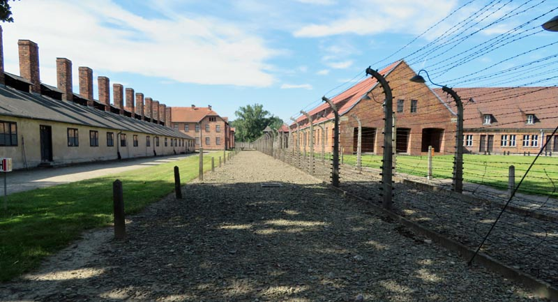 The Auschwitz Concentration Camp was established in these former Polish Barracks in June, 1940.