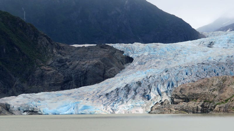Mendenhall Glacier in Juneau, Alaska