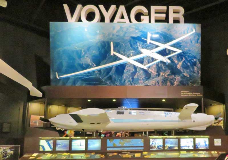Voyager replica at the EAA Aviation Museum