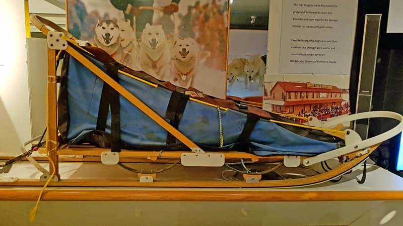 Dogsled in the Yukon Transportation Museum.