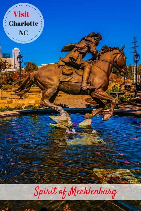 Spirit of Mecklenburg statue in Charlotte, North Carolina