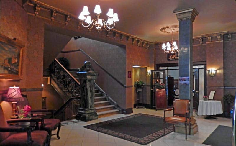 Lobby of the Hotel Senator in Saskatoon, Saskatchewan.
