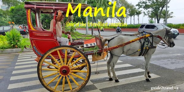 Kalesa horse drawn carriage in Manila, Philippines.