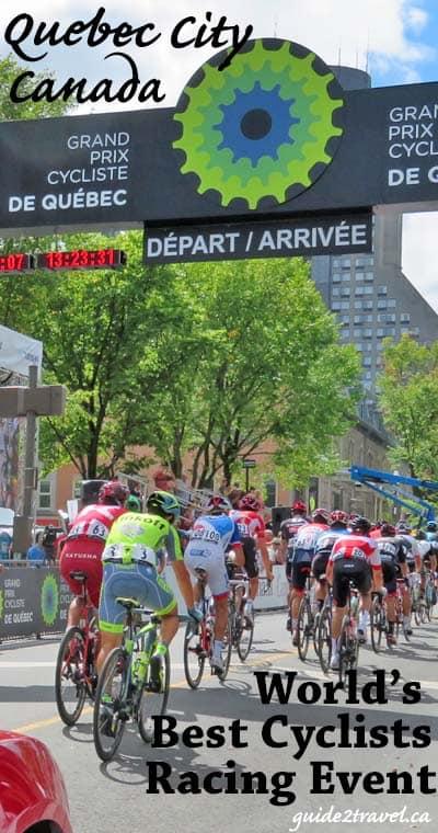 Cyclists in the Grand Prix Cycliste de Québec