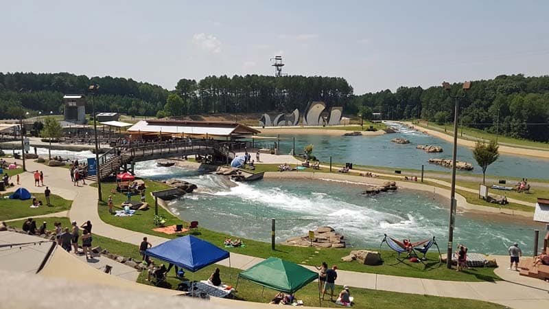 Overview of the Whitewater Center near the time of the Solar Eclipse in 2017.
