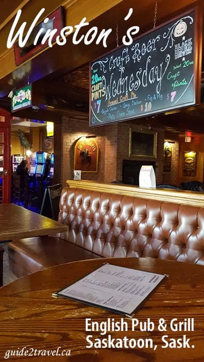 Winston's Pub & Grill in Saskatoon, Saskatchewan.