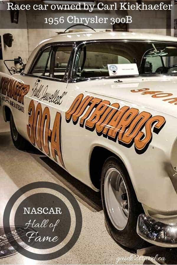 1956 Chrysler 300 B race car on display at the NASCAR Hall of Fame