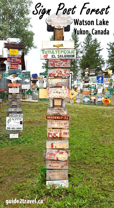 Sign Post Forest at Watson Lake, Yukon, Canada.