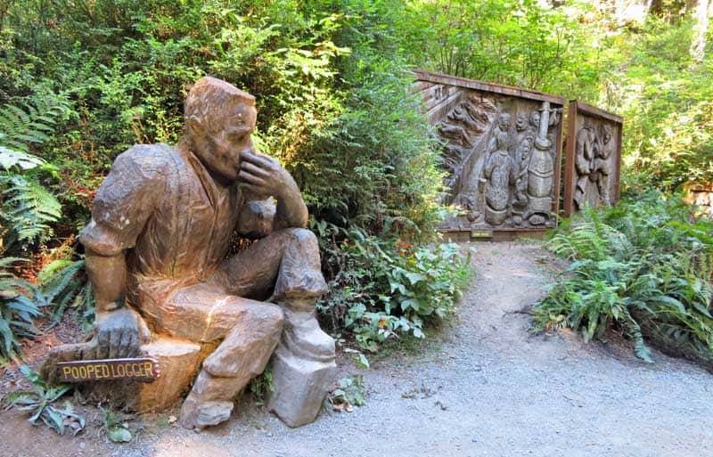 Carving on the Trail of Tall Tales.