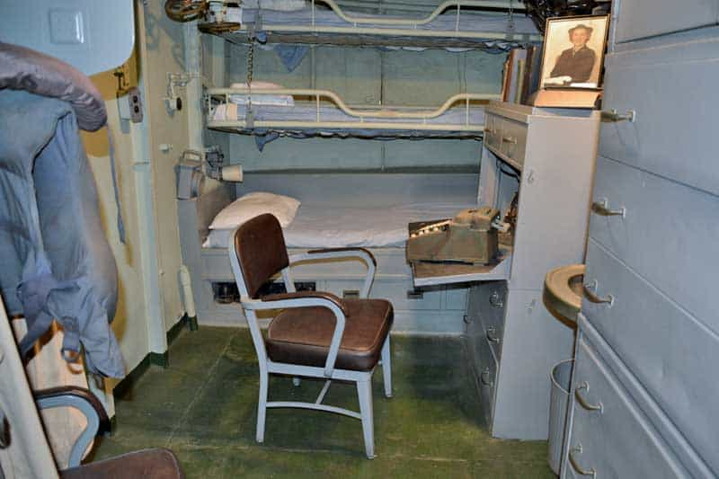 Cabin on the USS Kidd in Baton Rouge, LA.