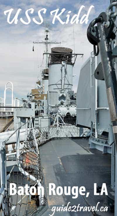 USS Kidd in Baton Rouge, LA.