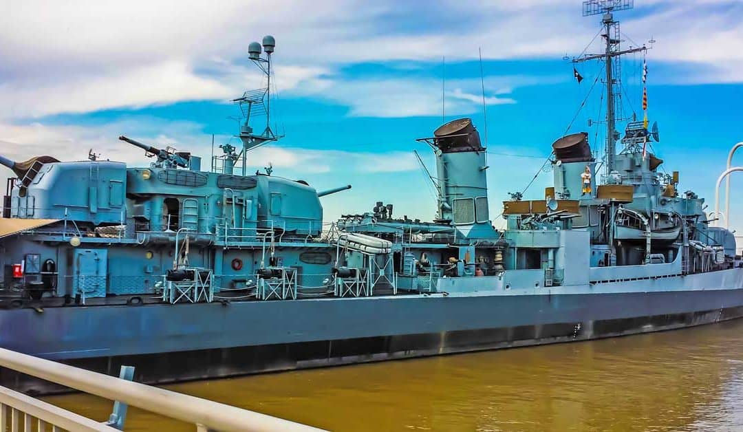 Visit the USS Kidd in Baton Rouge for Navy Day