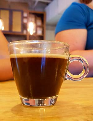Coffee at Roots Cafe in Charlotte, NC - celebrate National Cookie Day