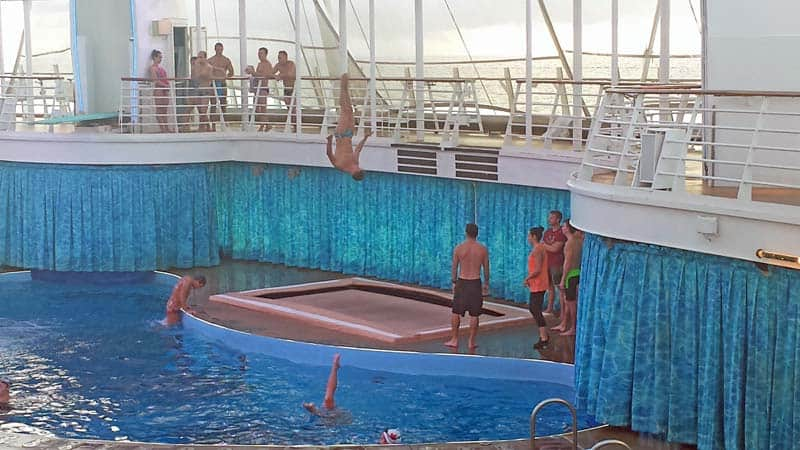 Aqua theater on the Oasis of the Seas cruise ship with Royal Caribbean International.