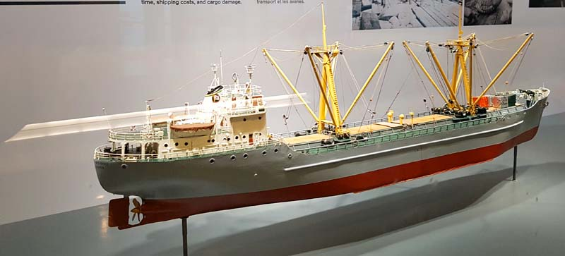 Historic ship model at the Port of Vancouver Discovery Centre.
