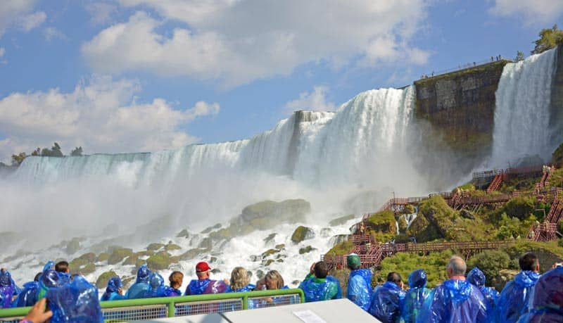 View of Niagara Falls from the Maid of the Mist tour. Photo by Linda Aksomitis.