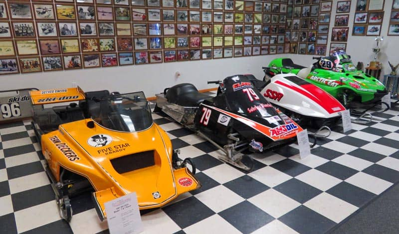 Antique Snowmobile Club of America Snowmobile Museum (ASCOA) at World Snowmobile Headquarters in Eagle River, Wisconsin.
